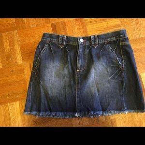 London Jean by VS Distressed Mini Skirt Size 4